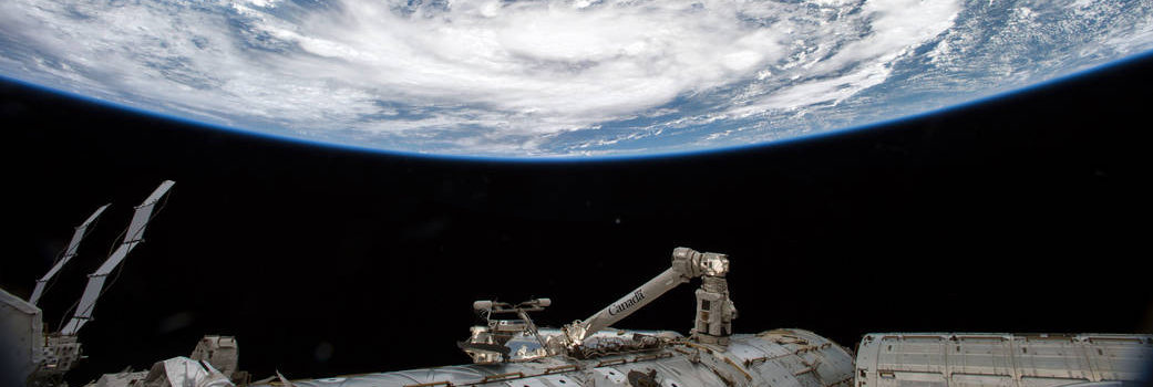 Tropical storm from ISS